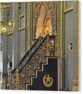 Imam Pulpit Sultan Mosque Singapore Wood Print