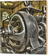 In The Ship-lift Engine Room Wood Print by Heiko Koehrer-Wagner