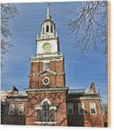 Independence Hall In Philadelphia Wood Print by Olivier Le Queinec