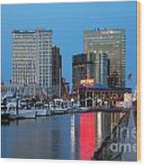 Inner Harbor Wood Print
