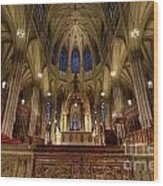 Inside St Patricks Cathedral New York City Wood Print