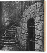 Iron Door In A Garden Wood Print