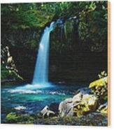 Ironhead Falls Wood Print