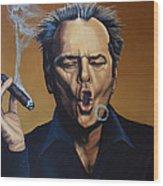 Jack Nicholson Painting Wood Print