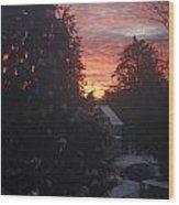 January Sunrise From Civill Avenue Wood Print
