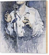Jazz Billie Holiday Lady Sings The Blues  Wood Print