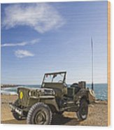 Jeep Willys Wood Print