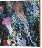 Jellyfish Forest Wood Print