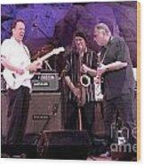 Guitarists Jimmie Vaughan And Duke Robbilard Wood Print