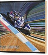 Jorge Lorenzo Wood Print