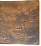 July 19-2013 Sunset Sky  Wood Print