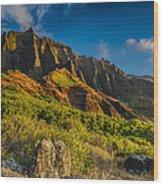 Kalalau Valley Wood Print