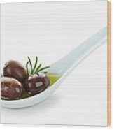 Kalamata Olives Wood Print