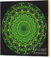 Kaleidoscope Of Glowing Circuit Board Wood Print by Amy Cicconi