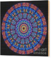 Kaleidoscope Stained Glass Window Series Wood Print
