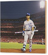 Kansas City Royals V St. Louis Cardinals Wood Print