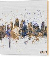 Kansas City Skyline Wood Print
