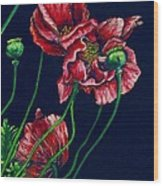 Kara's Poppies Wood Print