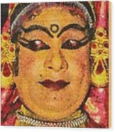 Katakali Actor In India Wood Print