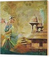 Kathak Dancer Wood Print by Catf