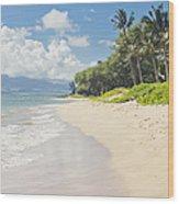 Kawililipoa Beach Kihei Maui Hawaii Wood Print