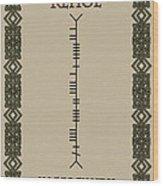 Kehoe Written In Ogham Wood Print