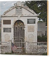 Key West Cemetery Wood Print