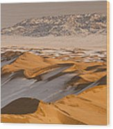 Khongor Sand Dunes In Winter Gobi Desert Wood Print