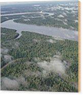 Kikori River In The Rainforest Kikori Wood Print