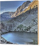 Kit Carson Peak And Willow Lake Wood Print