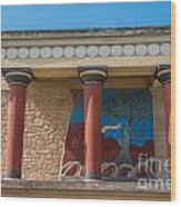 Knossos Palace Wood Print by Luis Alvarenga