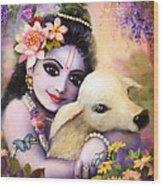 Krishna Gopal Wood Print by Lila Shravani