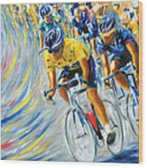 Pro Bike Racing Paris Wood Print
