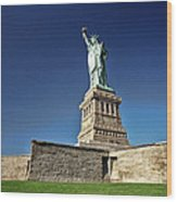 Lady Liberty 2 Wood Print