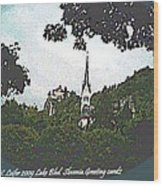 Lake Bled.slovenia.greeting Card Wood Print