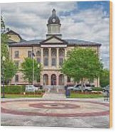 Lake City Courthouse Wood Print