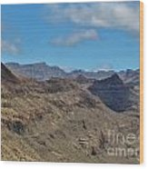 Landscape Amazing Canarian Colors Mountains Wood Print