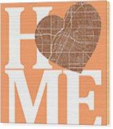 Las Vegas Street Map Home Heart - Las Vegas Nevada Road Map In A Wood Print