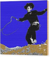 Lash Larue Bull Whip Publicity Photo Wood Print