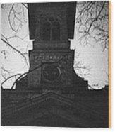 Lausanne Noir Wood Print