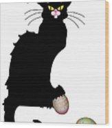 Le Chat Noir - Easter Wood Print