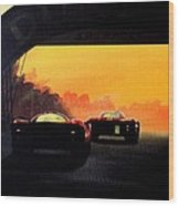 Le Mans Sunset Wood Print