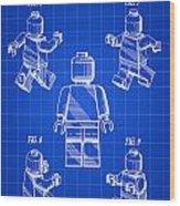 Lego Figure Patent 1979 - Blue Wood Print