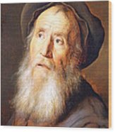Lievens' Bearded Man With A Beret Wood Print
