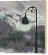 Light In The Sky Wood Print
