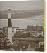 Lighthouse - Atlantic City Wood Print