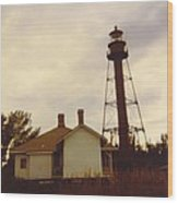 Lighthouse Landscape Wood Print