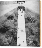 Lighthouse On The Hill Wood Print