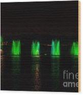Lights At Night Wood Print