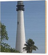 Ligthouse - Key Biscayne Wood Print